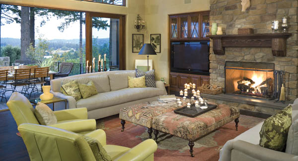 Great Room Fireplace Ideas Floor To Ceiling Stone Fireplace